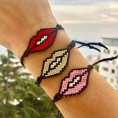 I would like to send you a million kisses my sweeties These lips bracelets are available at our online shop❣️❣️❣️ LINK IN BIO