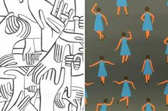Spruce Up Your Space With These Pretty Wallpapers #refinery29  http://www.refinery29.com/a-beautiful-mess/7#slide-5  Pottok I am super excited about this hand print by Geoff McFetridge (heart eyes!!!). I think I am going to use it in a small bathroom. What would you use it for?