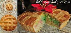 Goan Baath Rainbow Cake Tart with Lattice Pattern / Bolo de Rulao - Hilda's Touch Of Spice Goan Recipes, Indian Food Recipes, Tart Shells, Cake Recipes, Egg Recipes, Christmas Sweets, Vanilla Flavoring, Cake Batter