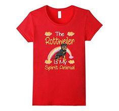 2514e82d301096 The Rottweiler Is My Spirit Animal Women's Short Sleeve 100% Cotton T-Shirt