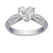 3.34CT EGL CERTIFIED WHITE HEART DIAMOND RING ANNIVERSARY 18K