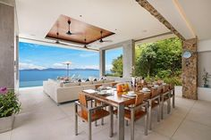 Exclusively Managed by Luxury Villas & Homes Koh Samui Thailand, Luxury Villa, Dining Table, Patio, Villas, Outdoor Decor, Homes, Furniture, Home Decor