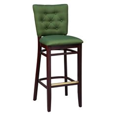 Regal Button Tufted Beechwood 26 in. Counter Stool - Upholstered Seat