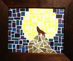 paint chip mosaic art #DIY
