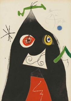 JOAN MIRÓ (1893-1983) | Plate 1 from: Quatre colors aparien el món | 1970s, Prints & Multiples | Christie's