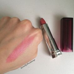 Maybelline Color Sensational lipstick in Pink Peony.  Follow my instagram @mellyfmakeup for more!