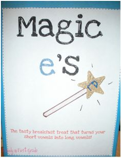 Rowdy in First Grade: Magic e