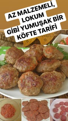 How to Make Meatballs? - I have a delicious meatball recipe with few ingredients, easy to make. Are you ready to make the be - How To Make Meatballs, Tasty Meatballs, Healthy Eating Tips, Healthy Nutrition, Meatball Recipes, Meat Recipes, Drink Recipes, Dessert Recipes, Turkish Recipes