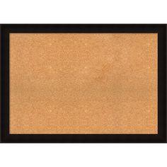 Framed Cork Board, Choose Your Custom Size, Manteaux Black Wood (64 x 32-inch)