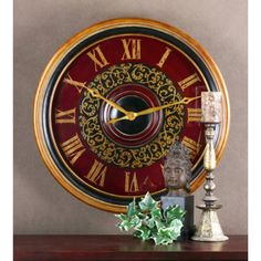 Uttermost Natara 32 Inch Wall Clock - 6748. I love big clocks
