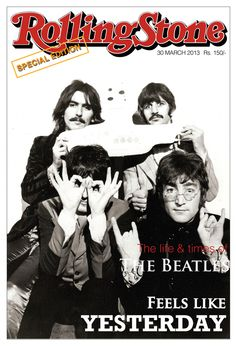George Harrison, Richard Starkey, Paul McCartney, and John Lennon Rolling Stone Magazine Cover, John Lennon, George Harrison, Paul Mccartney, Yellow Submarine Album, Tenacious D, Rock Y Metal, Richard Starkey, Les Beatles