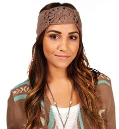 Taupe Sunburst Knit Headband