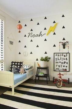 Noah's Graphic, Modern Abode — Kids Room Tour