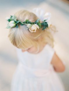 Sweet flower girl flower crown: http://www.stylemepretty.com/2016/05/12/how-to-flower-crown-for-brides/