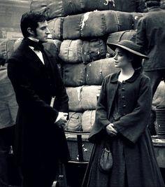 Richard Armitage (Mr. John Thornton) & Daniela Denby-Ashe (Margaret Hale) - North & South directed by Brian Percival (TV, Mini-Series, BBC, 2004) #elizabethgaskell