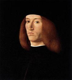 Portrait of a Young Man, 1490  -    Andrea Solario