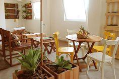 Um espaço para descansar bem colorido e cheio de vida!