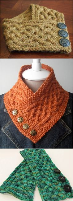 Knit Celtic Cable Neckwarmer