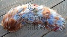 Brown and Blue Mottled Yarn Tail (FOR SALE) by serenitymoonwolf