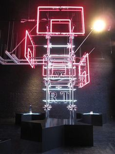 Retail Lighting Solutions/ Nike X Riccardo Tisci/ Hotel Creative Stand Design, Booth Design, Neon Lighting, Lighting Design, Retail Experience, Retail Interior, Environmental Design, Exhibition Space, Lighting Solutions