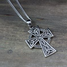 Hey, I found this really awesome Etsy listing at https://www.etsy.com/listing/162289975/mens-celtic-cross-necklace-sterling