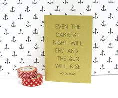 Les Miserables notebook  Victor Hugo quote by constarlation, €4.95