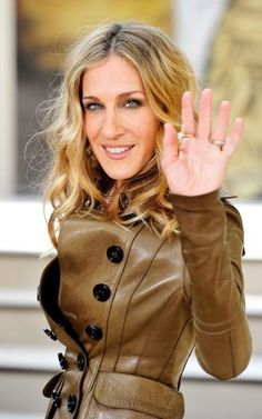 SJP-fashion- so in love with this Burberry jacket!