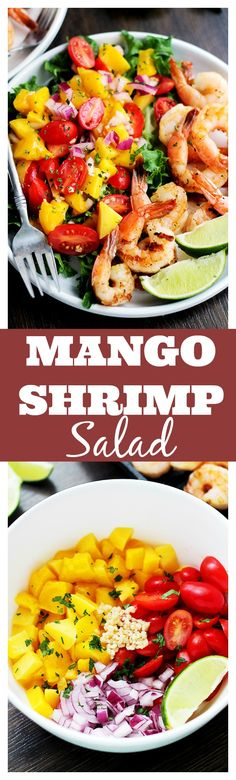 Mango and Shrimp Salad | www.diethood.com | Refreshing summer salad that combines the delicious flavors of lime, mango, and grilled shrimp.