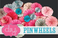 DIY Paper Pinwheels for Partiesa