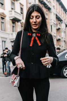 Street style Milan Fashion Week, febrero 2017 © Diego Anciano https://womenfashionparadise.com/