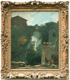 Jean-Honoré FRAGONARD -Cascatelles de Tivoli - Louvre (attribution ancienne à Hubert ROBERT -> ont travaillé ensemble en Italie, leurs paysages se confondent)
