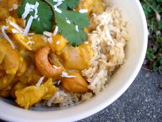 Pumpkin Cashew Coconut Curry over Coconut Rice | PaleOMG - Paleo Recipe