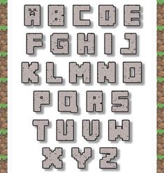 9 Best Images of Free Minecraft Printable Letters - Minecraft Printable Banner Letters, Minecraft Party Free Printables and Minecraft Letters Minecraft Party, Minecraft Font, Minecraft Classroom, Minecraft Banners, Minecraft Crafts, Minecraft Cake, Minecraft Bedroom, Lego Cake, Minecraft Furniture