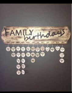Family birthdays wall decor