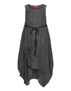 Linen safety pin cocoon dress by Igor Dobranic. Shop now: http://www.navabi.us/dresses-igor-dobranic-linen-safety-pin-cocoon-dress-anthracite-30304-3300.html?utm_source=pinterest&utm_medium=social-media&utm_campaign=pin-it