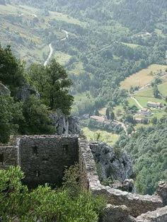France...Cathar Country Landscapes: Chateau de Puilaurens