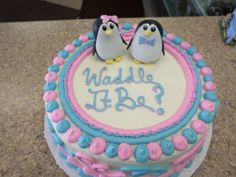 Waddle It Be Gender Reveal Cake