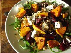 Jesienna salatka z burakow, dyni i koziego sera - cincin.cc - witaj w krainie inspiracji smaku