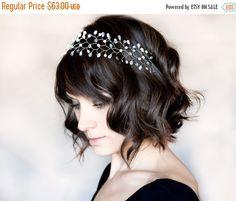 13_Silver headband Crystal headband Headband Silver by ArsiArt