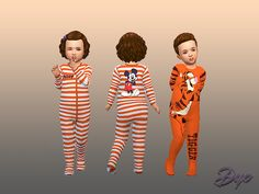 Pajamas for toddler male and female  Found in TSR Category 'Sims 4 Male Toddler'