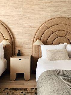 Santa Monica, Bedroom Inspo, Bedroom Decor, American Interior, Hotel Decor, Hospitality Design, Home Living, Decoration, Interior Design