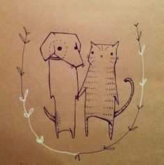 cat illustration by deniz yegin ikiisik #rumisu #illustration