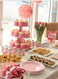 candy buffet pour votre baby shower tout en rose