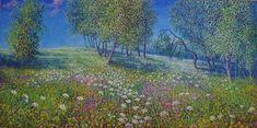 Oil on linen, 60 x 120 cm. Painted by Tore Hogstvedt Shops, Mendoza, Monet, Impressionist, Wild Flowers, Oil, Artwork, Painting, Tents