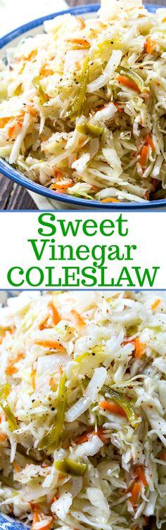 Sweet Vinegar Coleslaw
