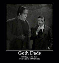Goth Dads Ha Ha Ha, couldn't help myself while looking at all the goth make-up…