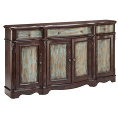 Laurie Distressed Veneer Sideboard Cabinet - Overstock Shopping - Great Deals on Coffee, Sofa & End Tables