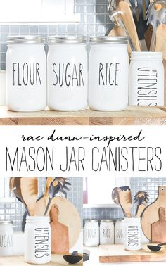 Rae Dunn-Inspired Kitchen Canisters - It All Started With Paint