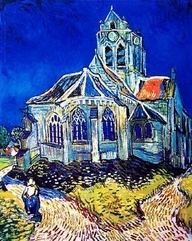 """""""Church at Auvers"""" Vincent van Gogh ~ I'm pinning this here and only whovians will know why"""