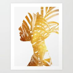 Buy Golden leaves Art Print by andreaslie. Worldwide shipping available at Society6.com. Just one of millions of high quality products available.